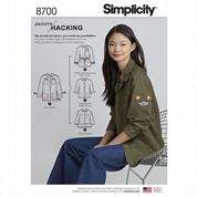 8700 Simplicity Pattern: Misses' Jacket Pattern with Hacking Instructions
